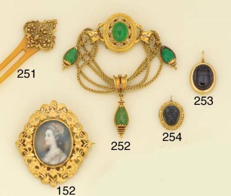 A Victorian gold and garnet pe