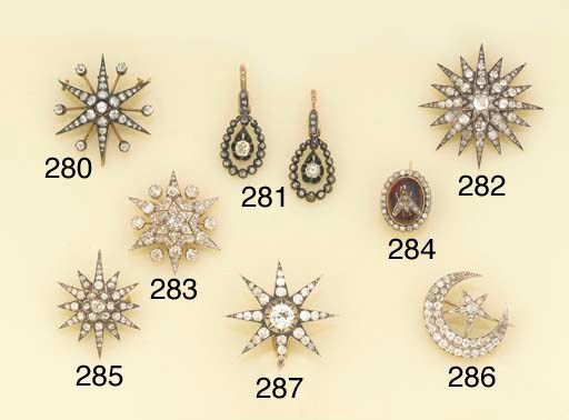 A 19th century diamond and gar