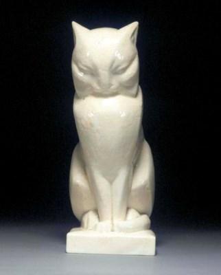 A PORCELAIN CAT