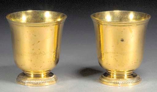 TWO GILT SILVER CUPS