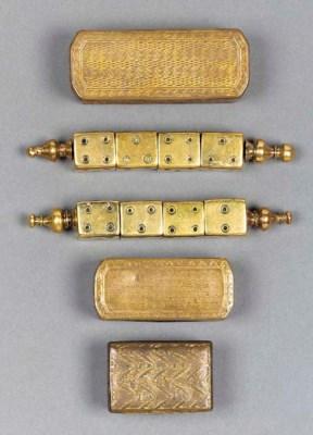Three small gilt copper Turkis