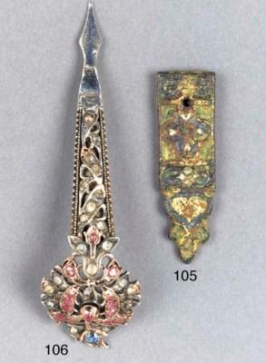 A Spanish gilt and enamelled b