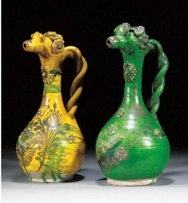 Two Channakale pottery ewers 1