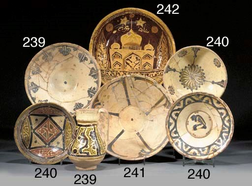 Three Nishapur pottery bowls 1