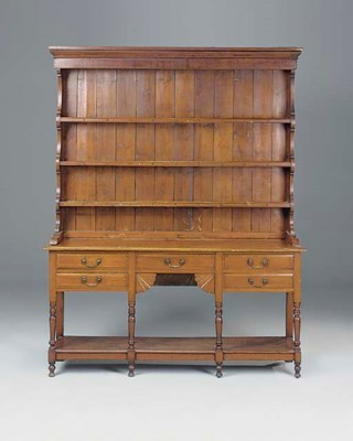 A STAINED MAHOGANY DRESSER, SO