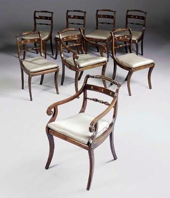 A set of eight Regency simulat
