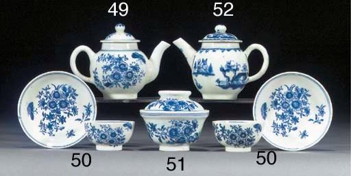 A Lowestoft blue and white min