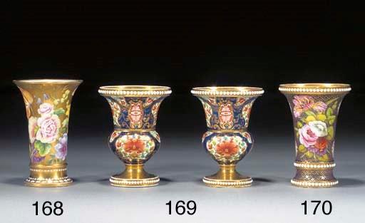 A pair of Spode Imari vases