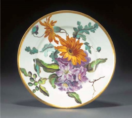 A Derby botanical plate