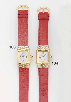 CHOPARD, A TWO COLOUR GOLD AND
