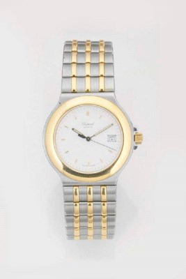 CHOPARD, A STEEL AND GOLD CALE