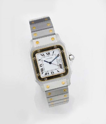CARTIER, A GOLD AND STAINLESS