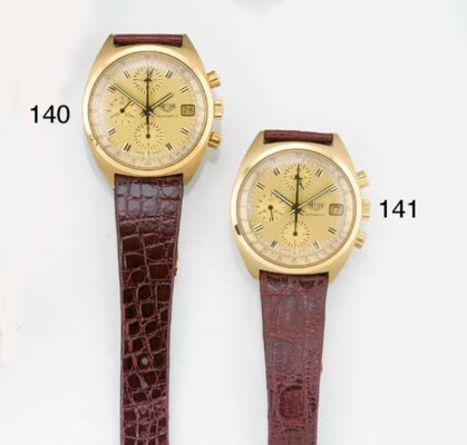 HEUER, AN 18ct. GOLD AUTOMATIC