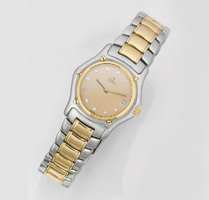 EBEL, A LADY'S STEEL AND GOLD
