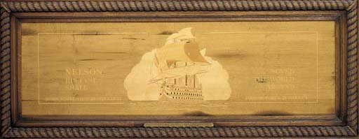 A MARQUETRY PANEL DEPICTING H.