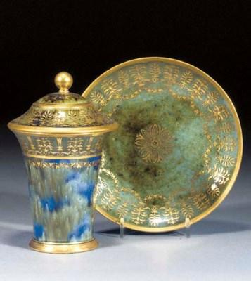 A Paris (Dihl) cup, a cover an