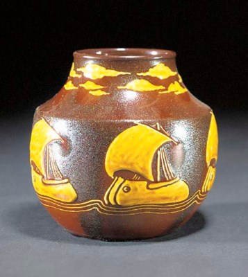 AN EARTHENWARE VASE probably b