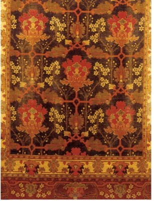 A PAIR OF CHENILLE WALL HANGIN