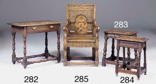 An oak side table, 18th centur