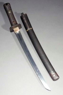 A wakizashi the blade unsigned