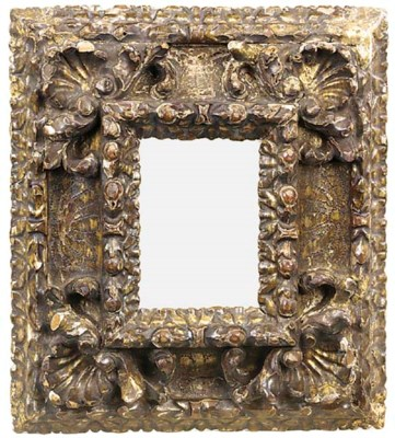 A Spanish carved, gilded and s