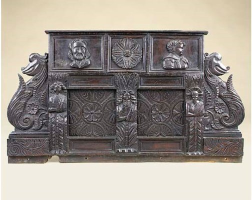An English carved oak mantel p