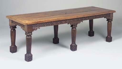 A large oak six leg centre or