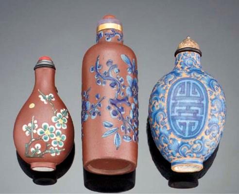 An enamelled yixing stoneware