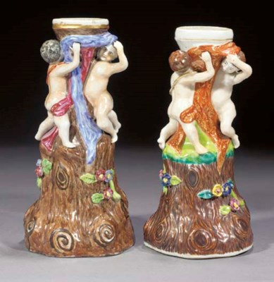 Two famille rose Meissen-style