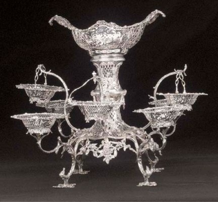 An Edwardian Silver Epergne