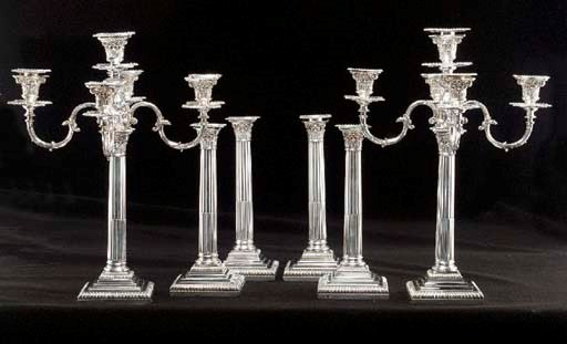 A Suite of Four Edwardian Silv