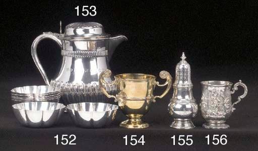 A Victorian silver caster