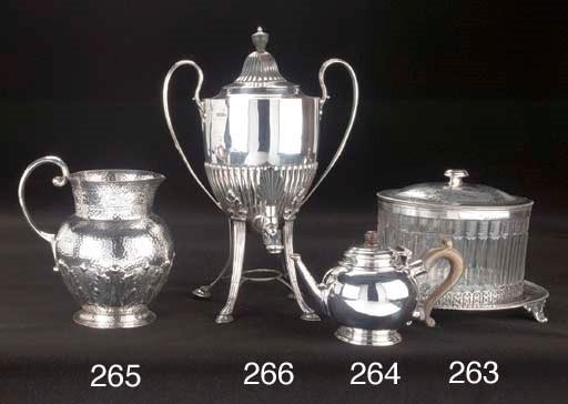 A Late Victorian Silver Hot Wa