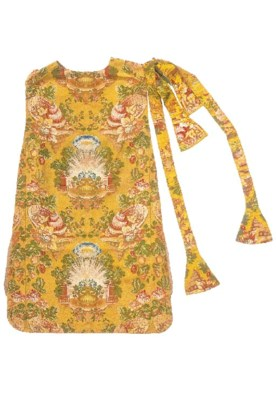 A chasuble, stole and maniple
