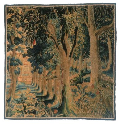 A Flemish verdure tapestry, wo