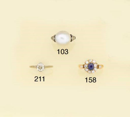 An untested pearl single stone
