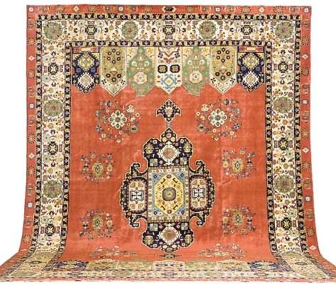 A fine unusual Tabriz carpet,