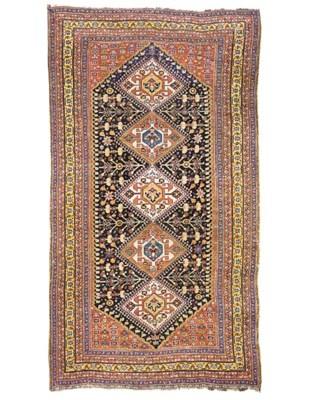 An antique Qashqai large rug,