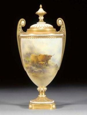 A Royal Worcester urn-shaped t