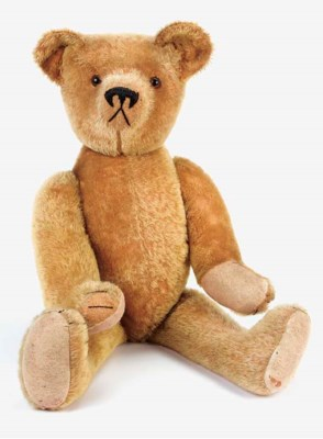 A golden mohair teddy bear