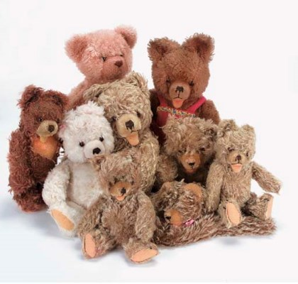 Hermann and Steiff Zotty Bears
