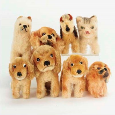 Steiff dogs and cats