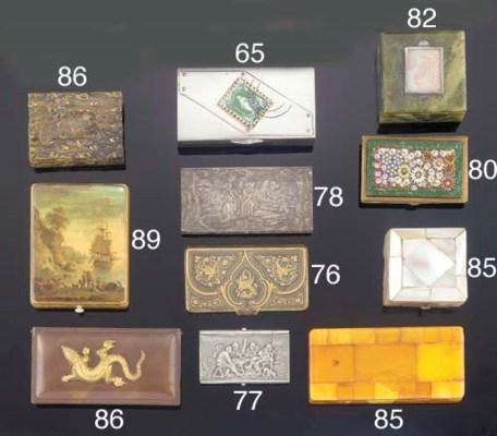 A Connemara marble stamp box