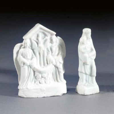 Two blanc de chine Jesuit grou