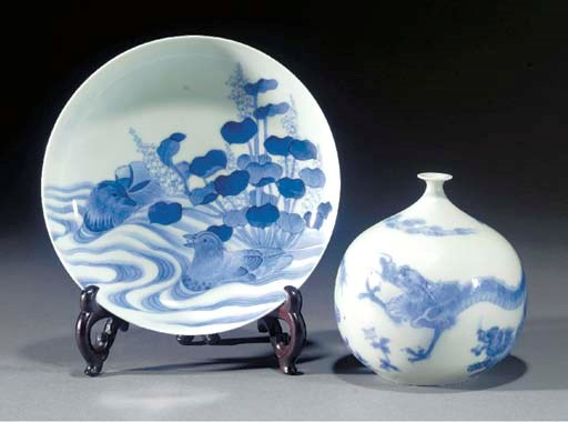 A Japanese blue and white glob