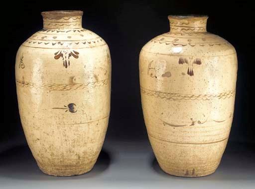 A pair of Cizhou style storage