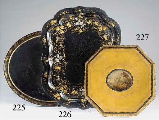 A Victorian gilt-heightened, m