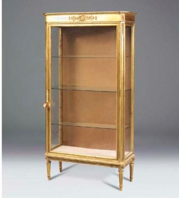 A French giltwood vitrine, lat