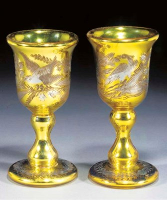 A pair of Varnish & Co. goblet