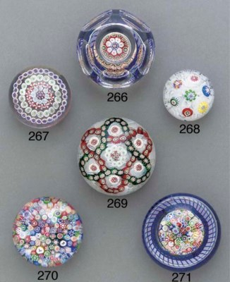 A Baccarat close millefiori mu